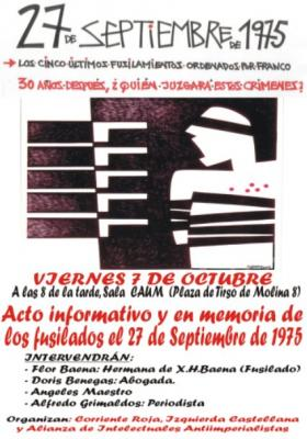 27 de septiembre de 1.975, IN MEMORIAM.